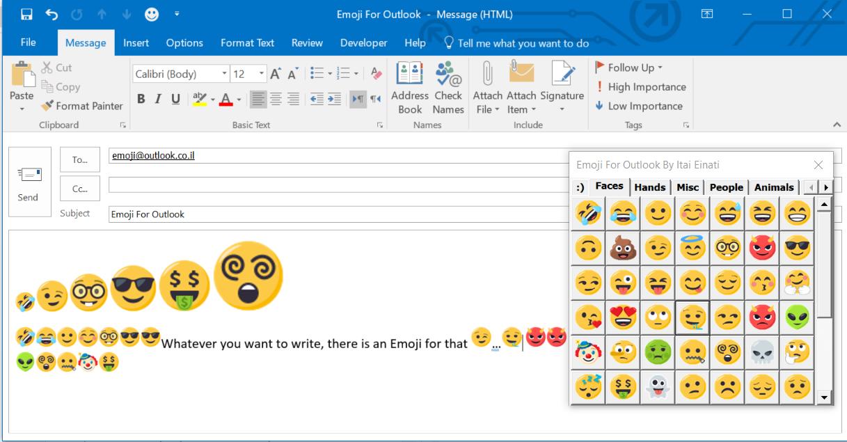 Emoji For Outlook